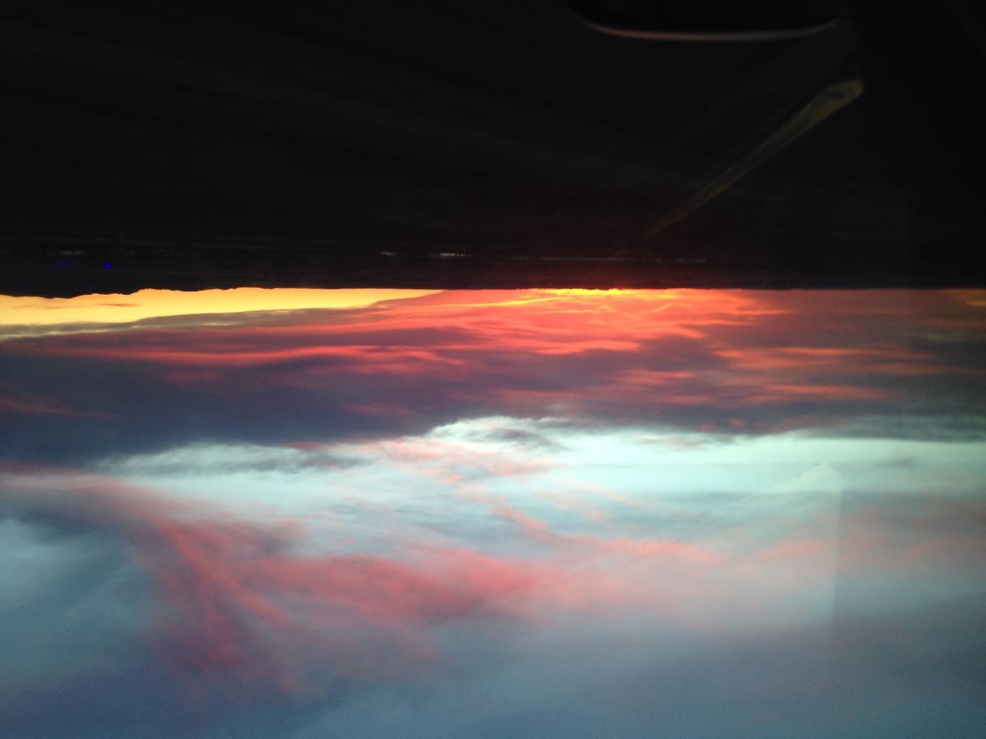 Upside Down Montana Sunset