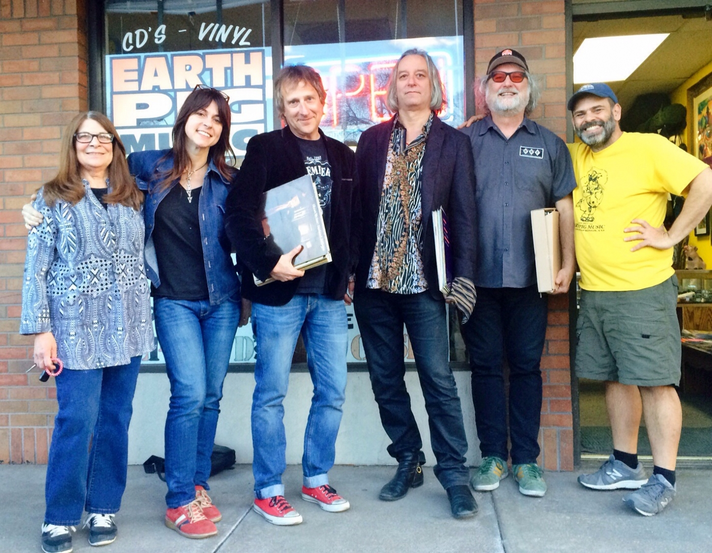 At Earth Pig Records, Colorado Springs. Photo by Tammy Shine